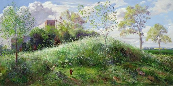 Cow Parsley Hill, 1991 (oil on canvas)