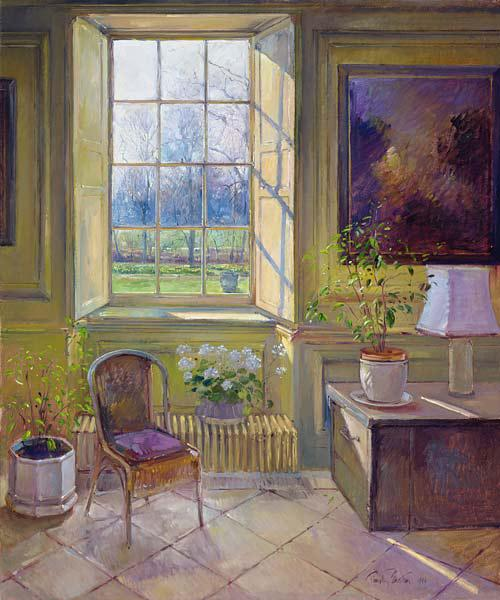Spring Light and The Tangerine Trees, 1994 (oil on canvas)
