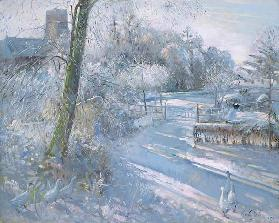 Hoar Frost Morning, 1996 (oil on canvas)