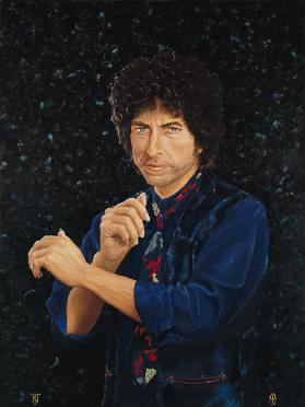 Bob Dylan (b.1946) 1991 (oil on canvas)