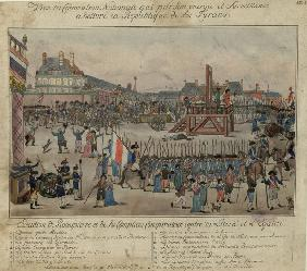 The execution of Robespierre and his supporters on 28 July 1794