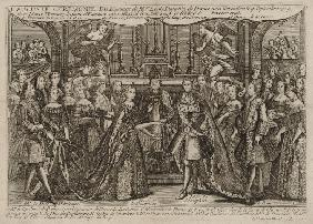 Marriage of Louis, Dauphin of France to Marie Thérèse Raphaëlle, Infanta of Spain in 1745 at Versail
