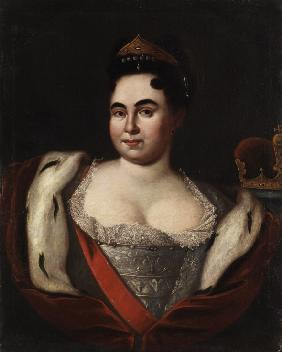 Portrait of Empress Catherine I. (1684-1727)