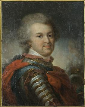 Portrait of Prince of Tauris general-field marshal, statesman Grigori A. Potyomkin (1739-1791)