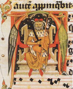Vratislaus II of Bohemia (from the Vysehrad antiphonary)