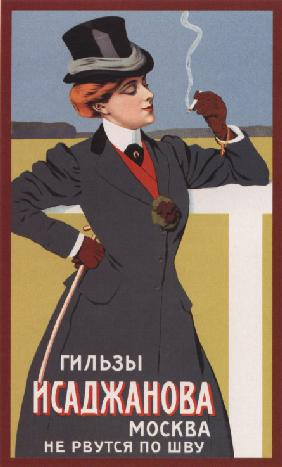Advertising Poster for the Cigarette Covers