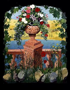 Mediterranean Urn Screen (print)