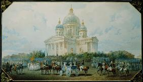 The Trinity Cathedral in St. Petersburg, 1850