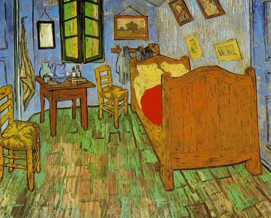 vincents schlafzimmer in arles vincent van gogh als kunstdruk of als handgeschilderd. Black Bedroom Furniture Sets. Home Design Ideas