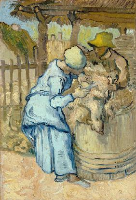 The sheep-shearer (after Millet)