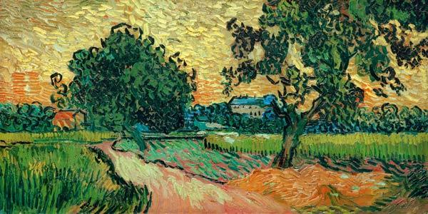 V.v.Gogh,Chateau of Auvers at Sunset/Ptg