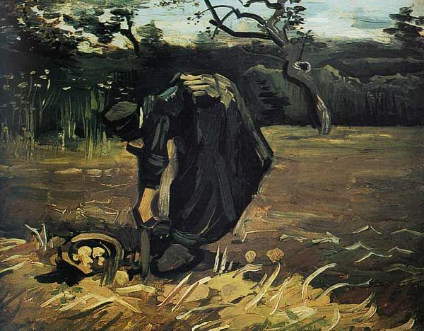 Gogh/Peasant woman digging potatoes/1885
