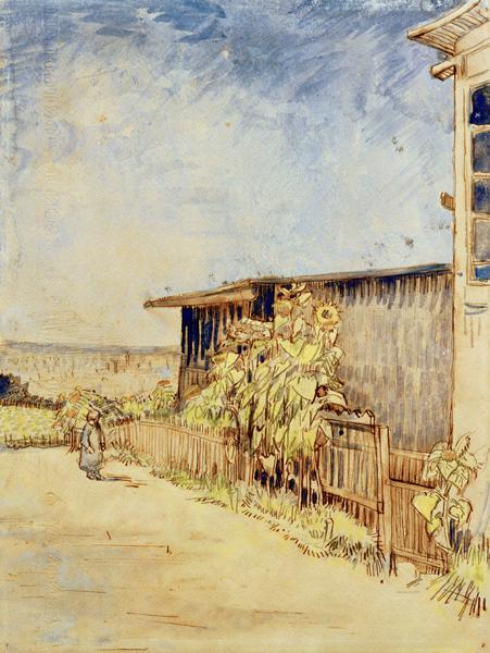 V.v.Gogh, Shed with Sunflowers / Waterc.
