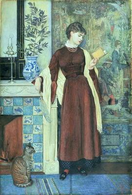 At Home: A Portrait, 1872 (tempera on paper)