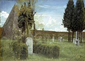 The Grave of Shelley, 1873 (w/c on paper)