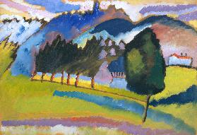 Landscape with Rolling Hills - Wassily Kandinsky