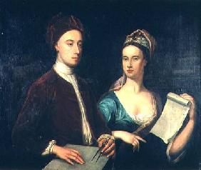 Portrait of Richard Boyle, 3rd Earl of Burlington (1695-1753) and his wife Lady Dorothy Savile (169