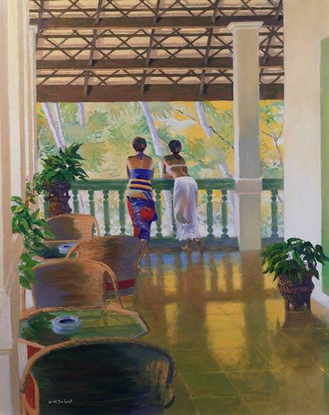 Veranda (oil on board)