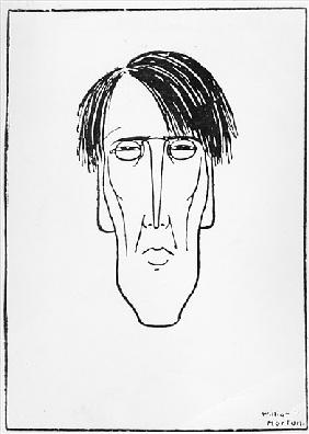 Caricature of W.B. Yeats, 1898 (ink on paper)